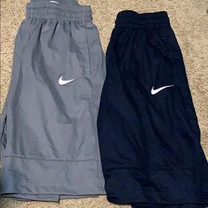 two pairs nike shorts